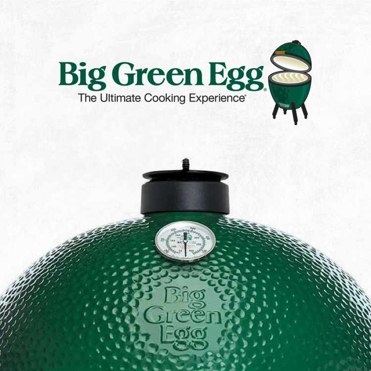 Big Green Egg logo with Big Green Egg product