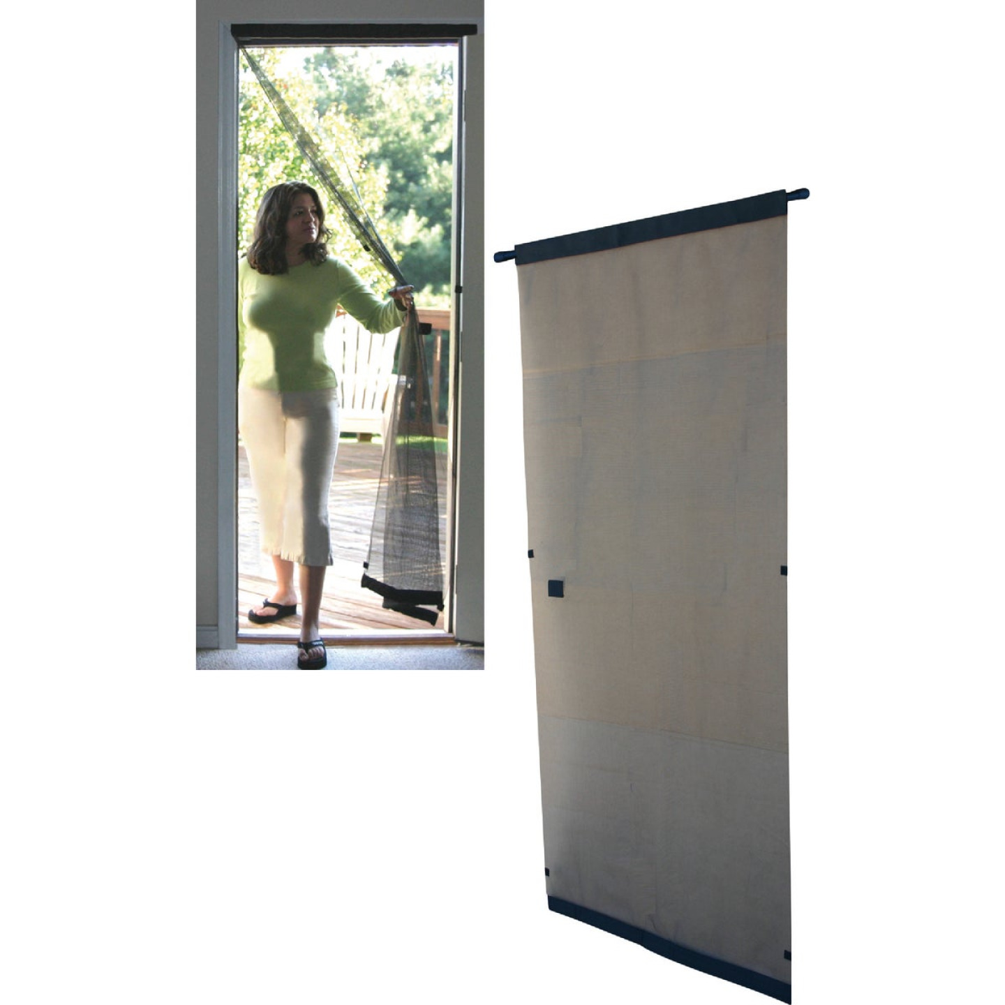 Snavely Kimberly Bay 37-1/2 In. W x 81 In. H Single Instant Door Screen Image 1