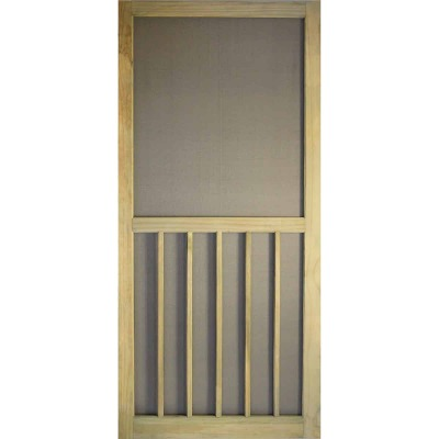 Snavely Kimberly Bay 36 In. W x 80 In. H x 1-1/8 In. Thick Stainable Natural ACQ Treated Solid Pine 5-Bar Screen Door