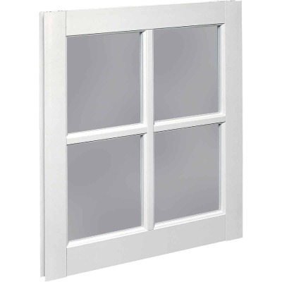 Northview Window 20 In. x 25 In. PVC 4-Lite Barn Sash