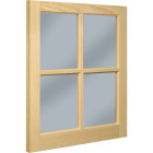 Northview Window 20 In. x 25 In. Wood 4-Lite Barn Sash Image 1