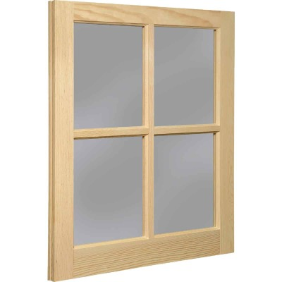 Northview Window 22 In. x 29 In. Wood 4-Lite Barn Sash