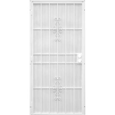 Precision Flagstaff 36 In. W x 80 In. H White Steel Security Door