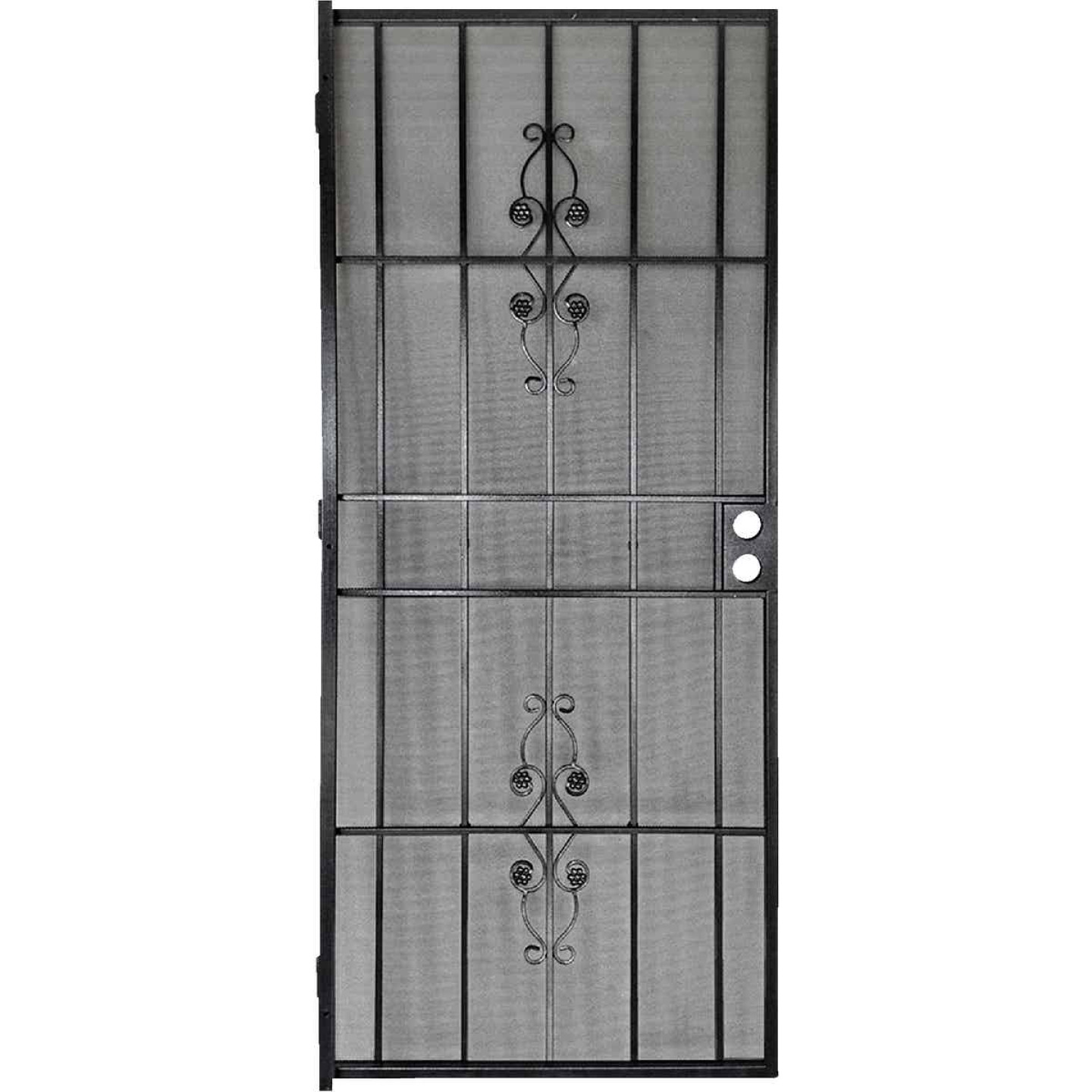 Precision Flagstaff 36 In. W x 80 In. H Black Steel Security Door Image 1