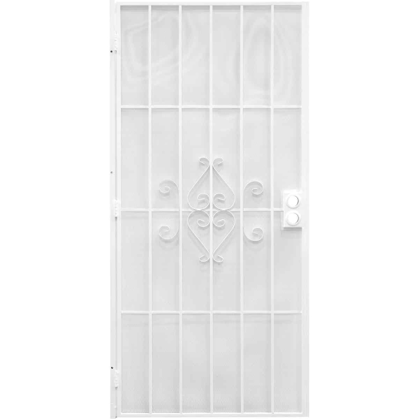 Precision Regal 32 In. W x 80 In. H White Steel Security Door Image 1