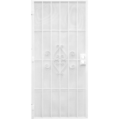 Precision Regal 32 In. W x 80 In. H White Steel Security Door