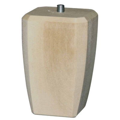 Waddell 4 In. x 2-1/2 In. Square Taper Hardwood Bun Foot