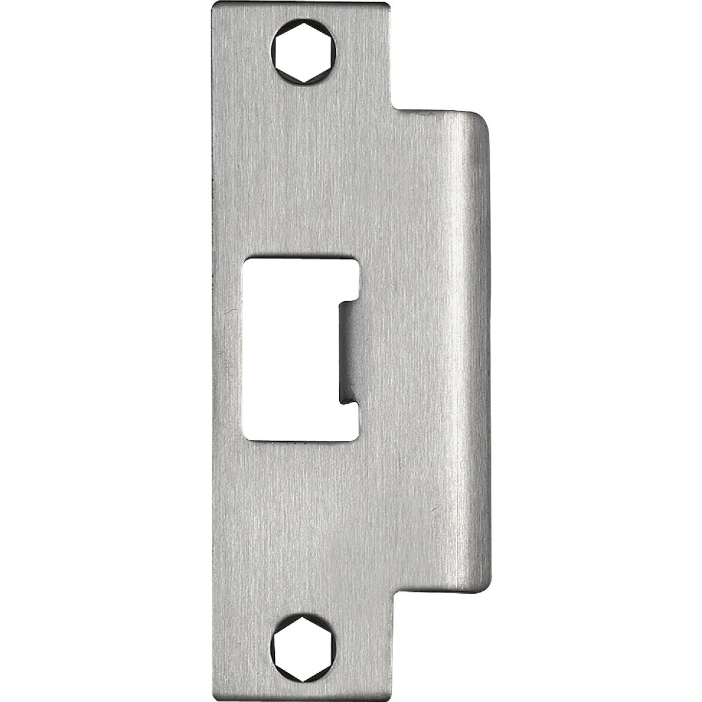 Tell Satin Stainless Steel 1-1/4 In. ASA Strike Plate Image 1