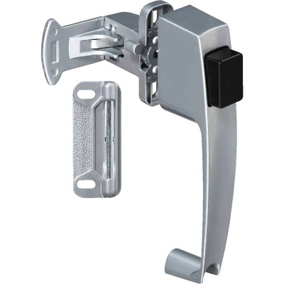 National Silver Push Button Latch