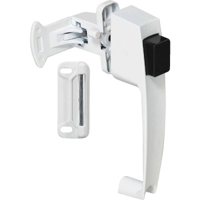 National White Push Button Latch