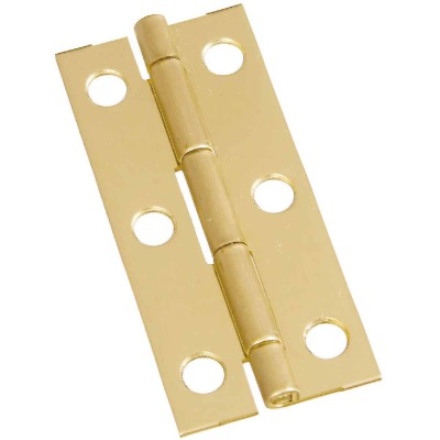 National 1-1/8 In. x 2-1/2 In. Brass Narrow Decorative Hinge (2-Pack)