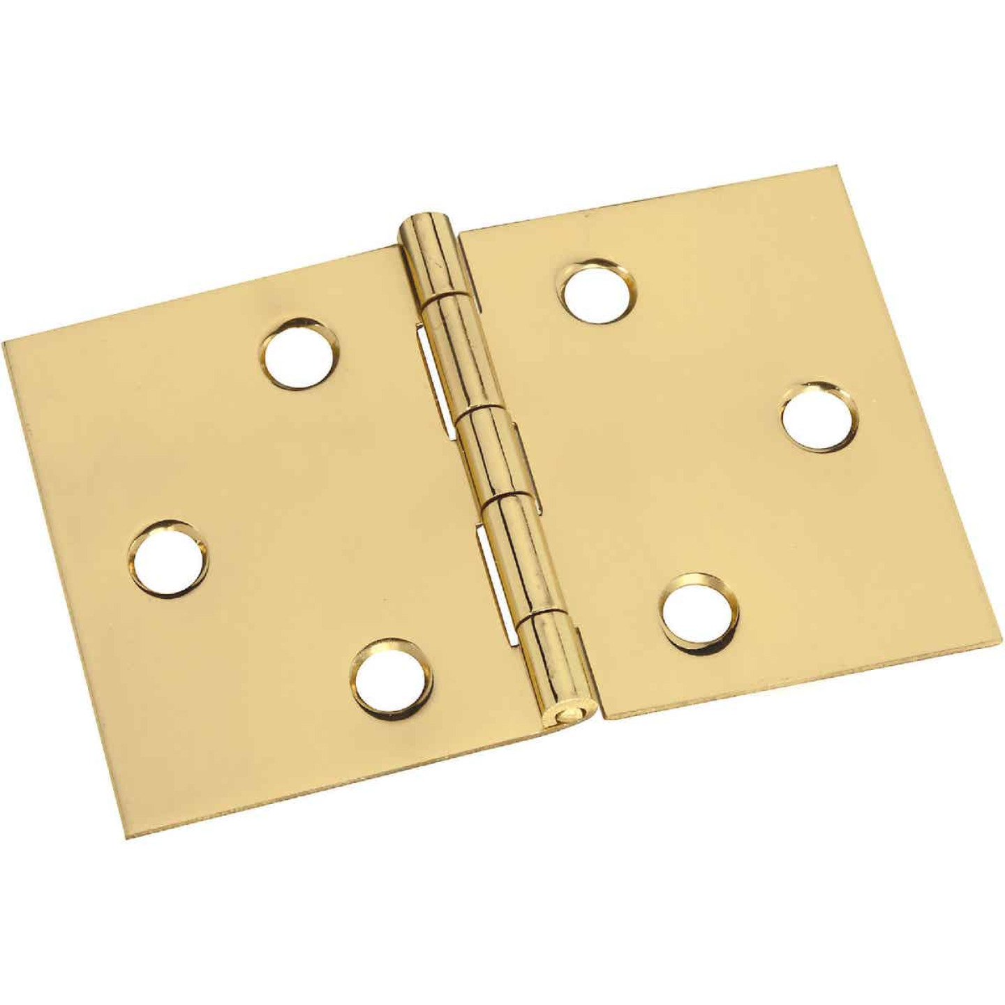 National 2 In. x 3-1/16 In. Brass Desk Hinge (2-Pack) Image 1