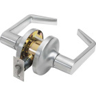 Tell Satin Chrome Passage Door Lever Image 1