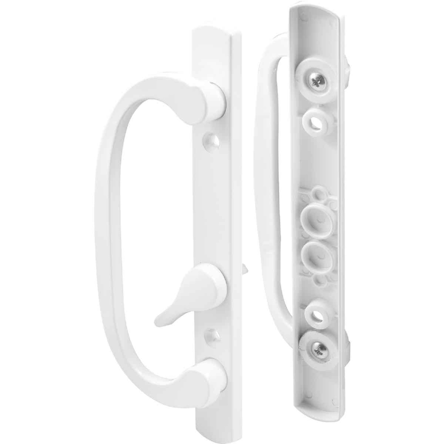 Prime-Line Mortise Style Sliding Door Handle Set With Offset Thumbturn Image 1