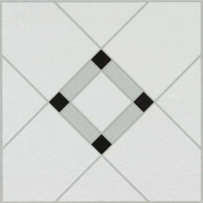 Armstrong Units Collection Lattice Lane Black/White 12 In. x 12 In. Vinyl Floor Tile (45 Sq. Ft./Box)