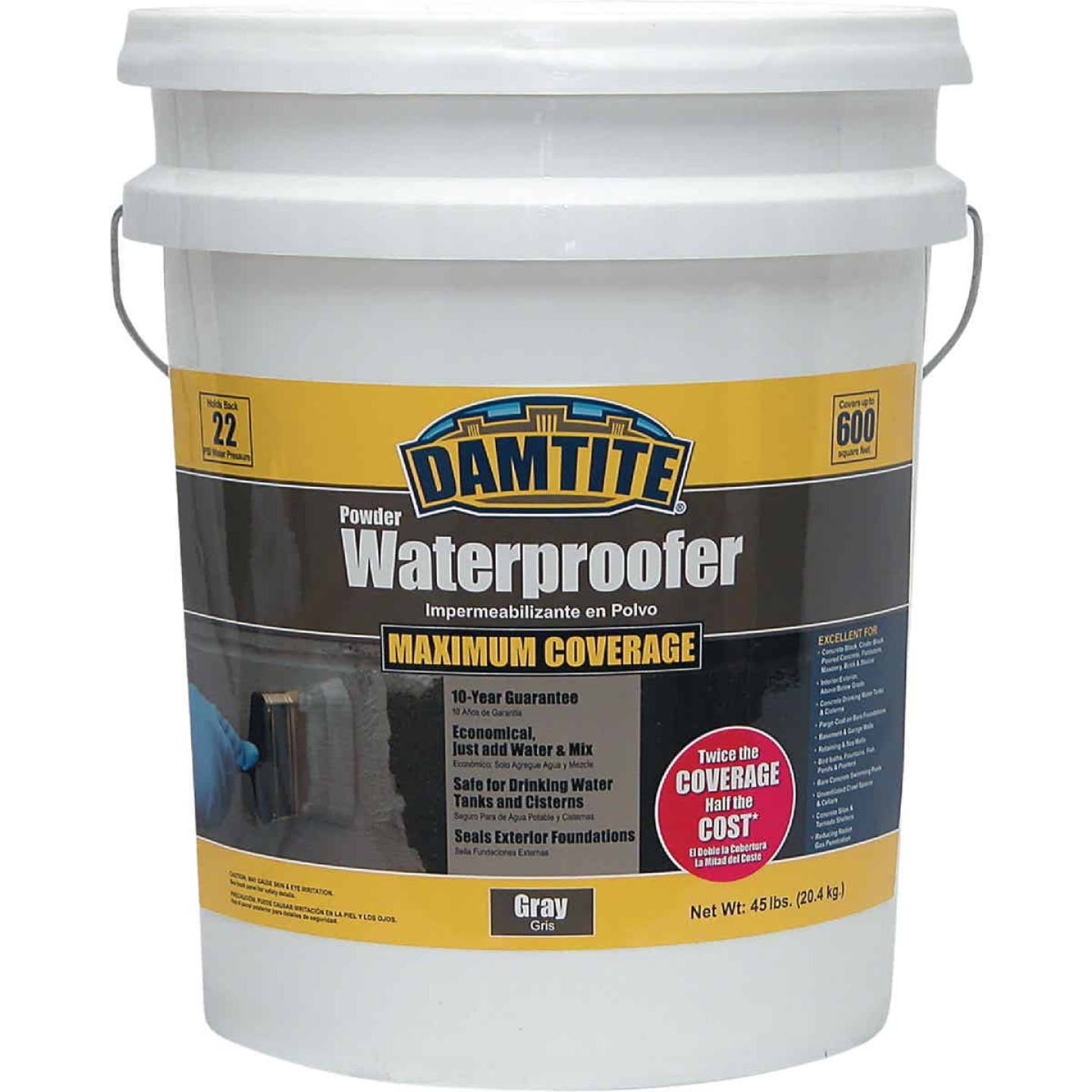 Damtite 45 Lb. Gray Powder Masonry Waterproofer Image 1