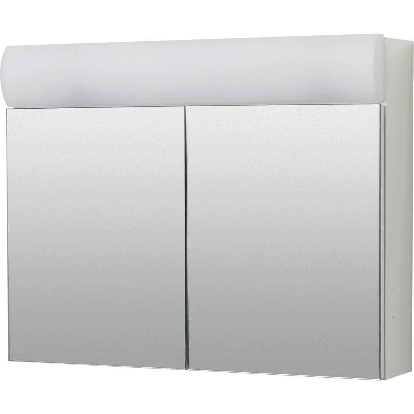 Zenith Zenna Home Frameless 23.25 In. W. x 18.63 In. H. x 5.88 In. D. Bi-View Surface Mounted Lighted Medicine Cabinet Image 1