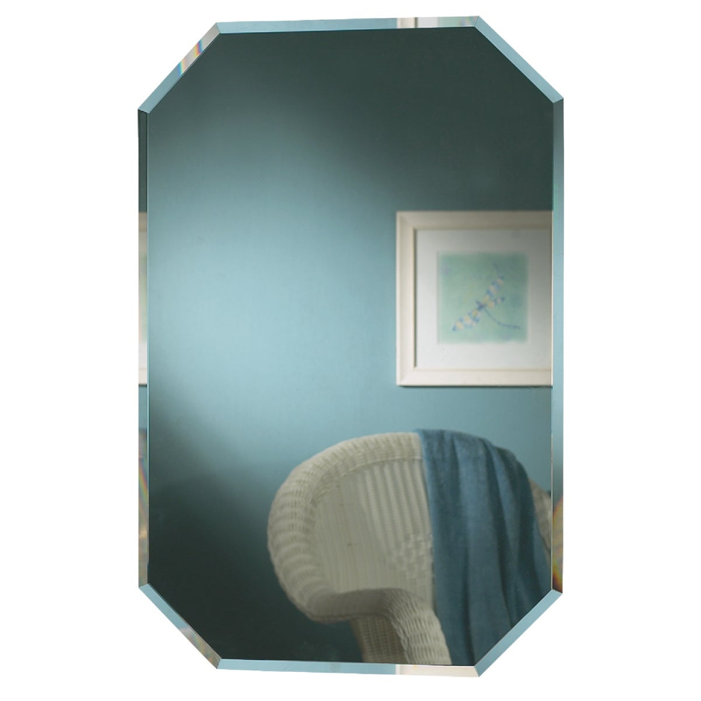 Zenith Frameless Beveled 16 In. W x 24 In. H x 4-1/2 In. D Single Mirror Surface/Recess Mount Octagon Medicine Cabinet Image 1