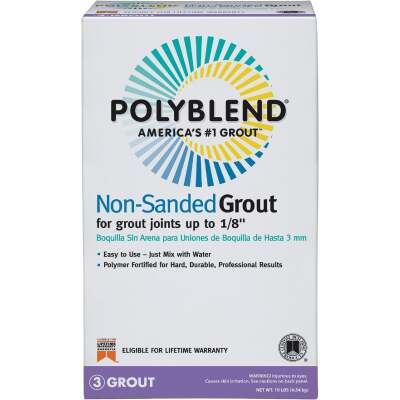 Custom Building Products Polyblend 10 Lb. Natural Gray Non-Sanded Tile Grout