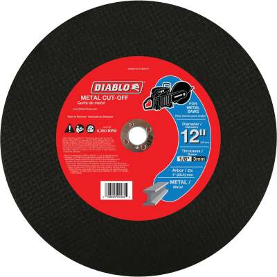 Diablo Type 1 12 In. x 1/8 In. x 1 In. Metal Cut-Off Wheel