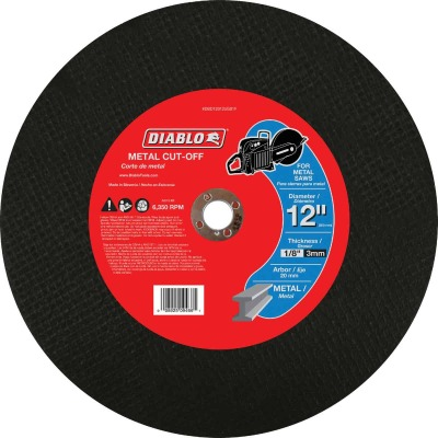 Diablo Type 1 12 In. x 1/8 In. x 20 mm Metal Cut-Off Wheel