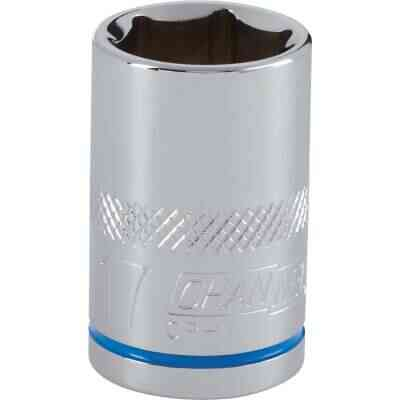 Channellock 1/2 In. Drive 17 mm 6-Point Shallow Metric Socket