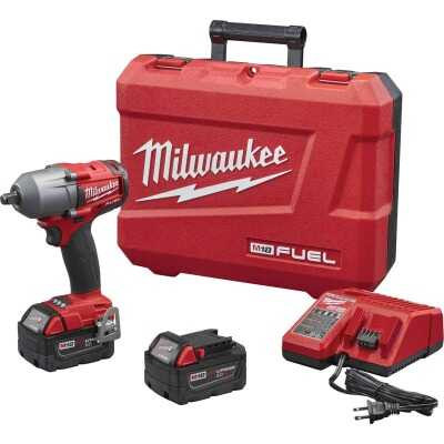 Milwaukee M18 FUEL 18 Volt Lithium-Ion Brushless 1/2 In. Mid-Torque Impact Wrench w/Friction Ring Kit