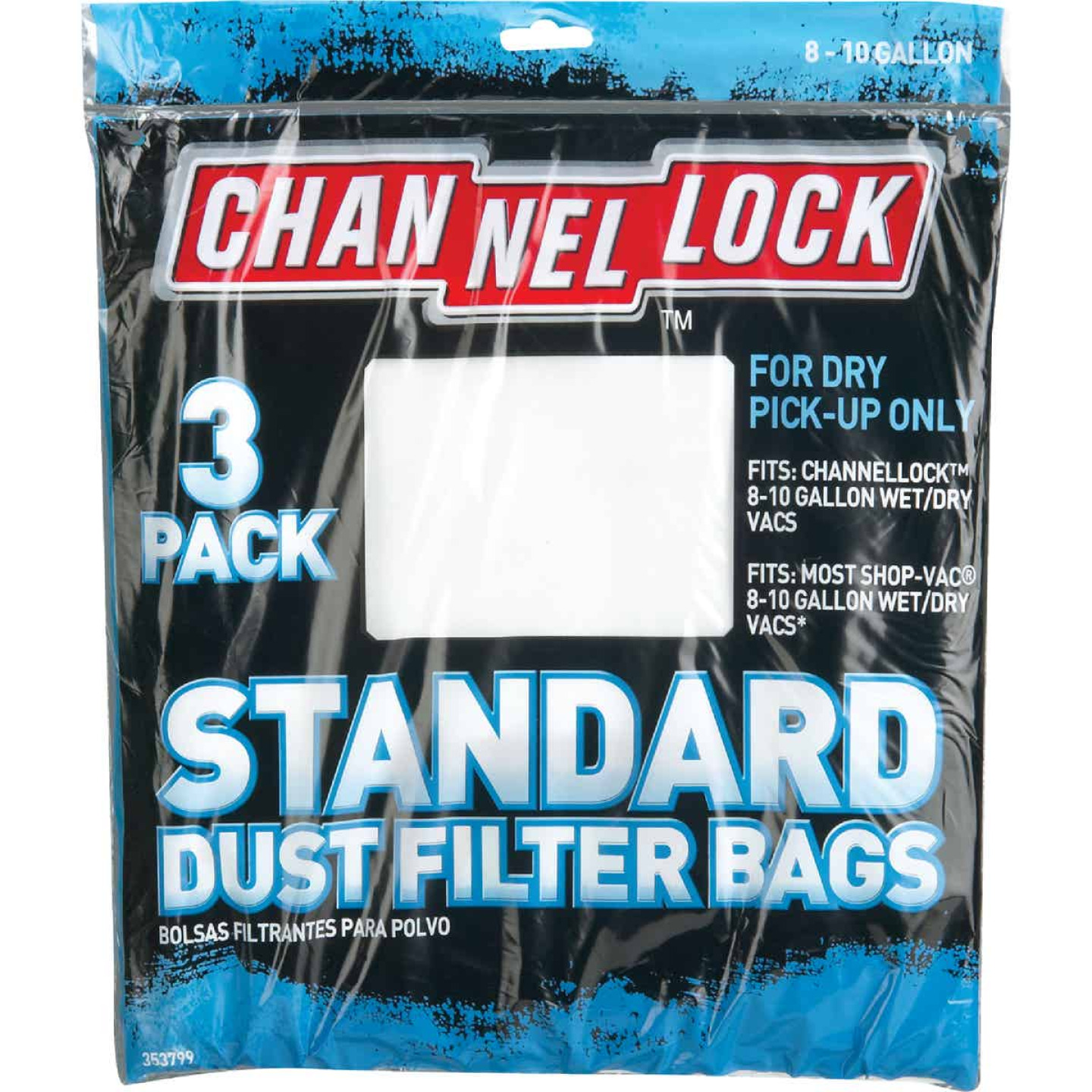 Channellock Paper Standard 8 to 10 Gal. Filter Vacuum Bag (3-Pack) Image 2