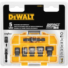 DeWalt Impact Ready 5-Piece Cleanable Magnetic Nutdriver Bit Set Image 1