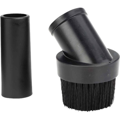 Shop Vac 1-1/2 In. Black Plastic Round Vacuum Brush with 1-1/4 In. Adapter