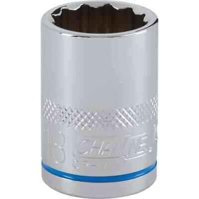 Channellock 1/2 In. Drive 18 mm 12-Point Shallow Metric Socket