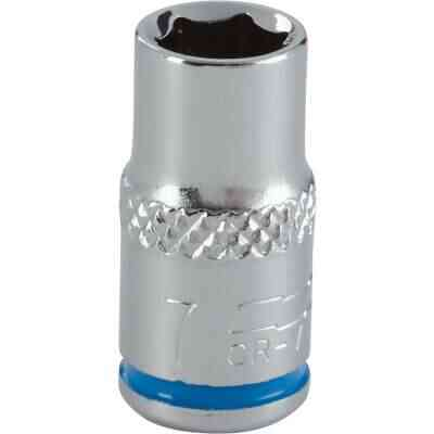 Channellock 1/4 In. Drive 7 mm 6-Point Shallow Metric Socket