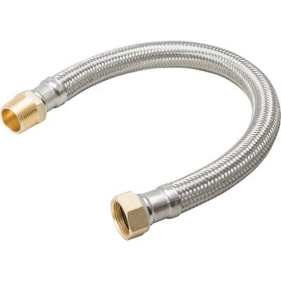 B&K 3/4 In. MIP X 3/4 In. FIP X 24 In. L Stainless Steel Water Heater Connector