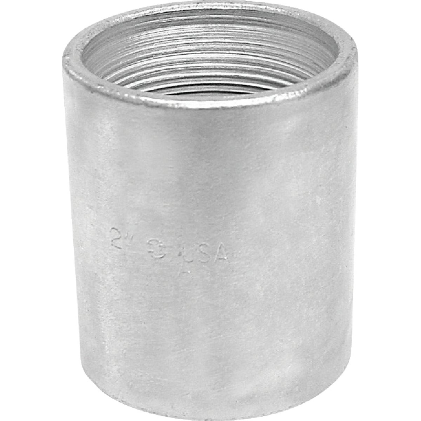 Anvil 1 In. x 1 In. FPT Standard Merchant Galvanized Coupling Image 1