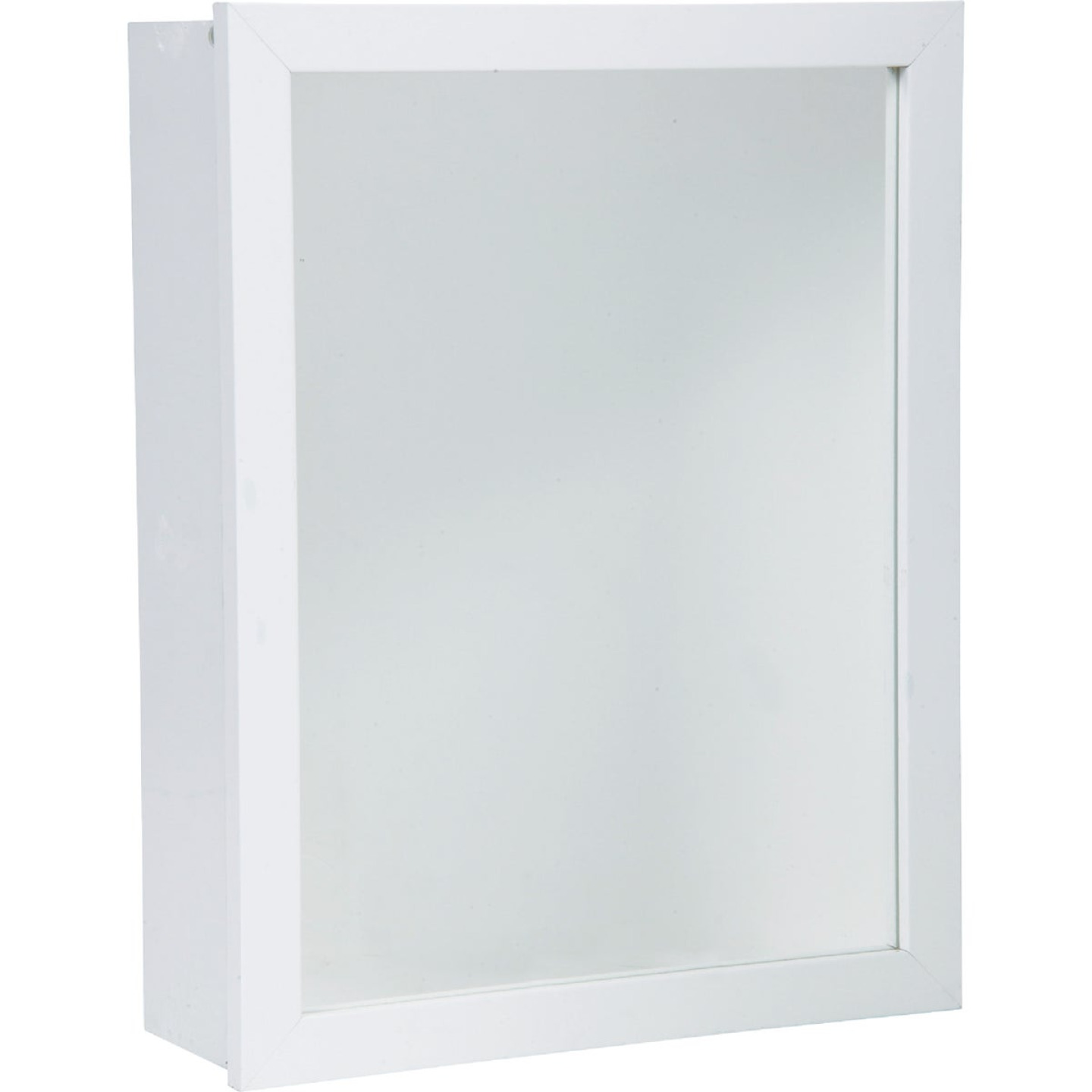 Zenith White 16 In. W x 22 In. H x 5 D Single Mirror Surface/Recess Mount Framed Medicine Cabinet Image 1