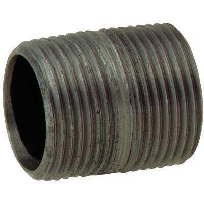 Anvil 1/8 In. x Close Schedule 40 Steel Black Iron Nipple
