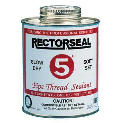 RectorSeal No. 5 4 Fl. Oz. Yellow Pipe Thread Sealant