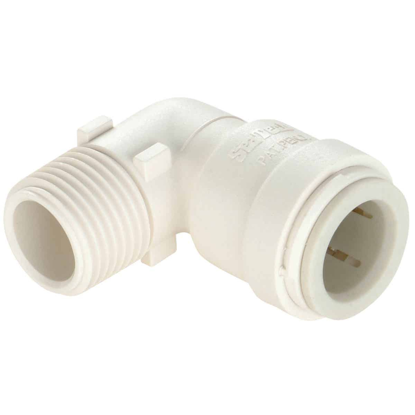 Watts 1/2 In. CTS x 3/8 In. MPT 90 Deg. Quick Connect Plastic Elbow (1/4 Bend) Image 1