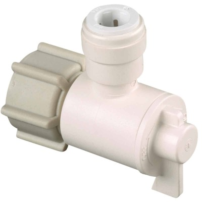 Watts 1/2 In. FPT X 1/4 CTS Quick Connect Stop Angle Valve