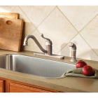 Moen Muirfield Single Handle Lever Kitchen Faucet with Side Spray, Stainless Image 2
