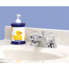 Home Impressions Chrome 2-Handle Knob 4 In. Centerset Bathroom Faucet with Pop-Up Image 2