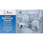 Home Impressions Chrome 2-Handle Knob 4 In. Centerset Bathroom Faucet with Pop-Up Image 3