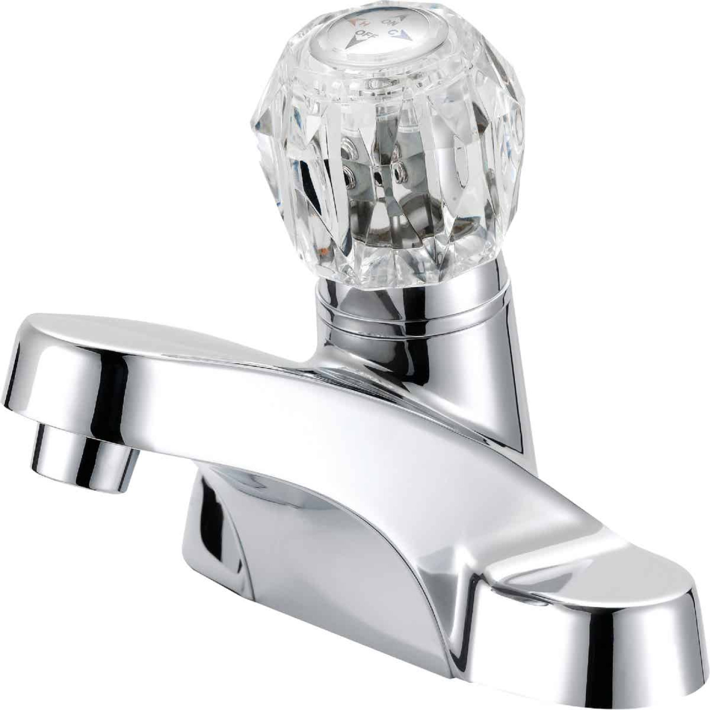 Home Impressions Chrome 1-Handle Knob 4 In. Centerset Bathroom Faucet Image 1
