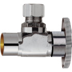 Do it 1/2 In. Sweat 3/8 In. OD Compression Quarter Turn Angle Valve Image 1