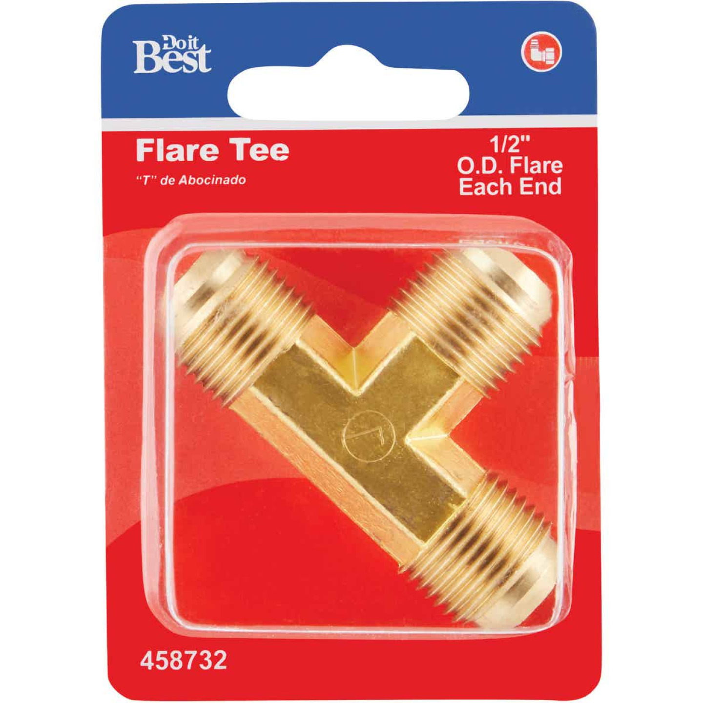 Do it 1/2 In. Flare Brass Tee Image 2