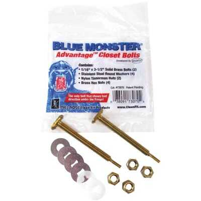 Blue Monster 5/16 In. x 3-1/4 In. Advantage Closet Bolt Kit