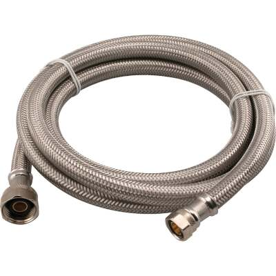 Do it Best 3/8 In. C X 1/2 In. F X 72 In. Stainless Steel Faucet Connector