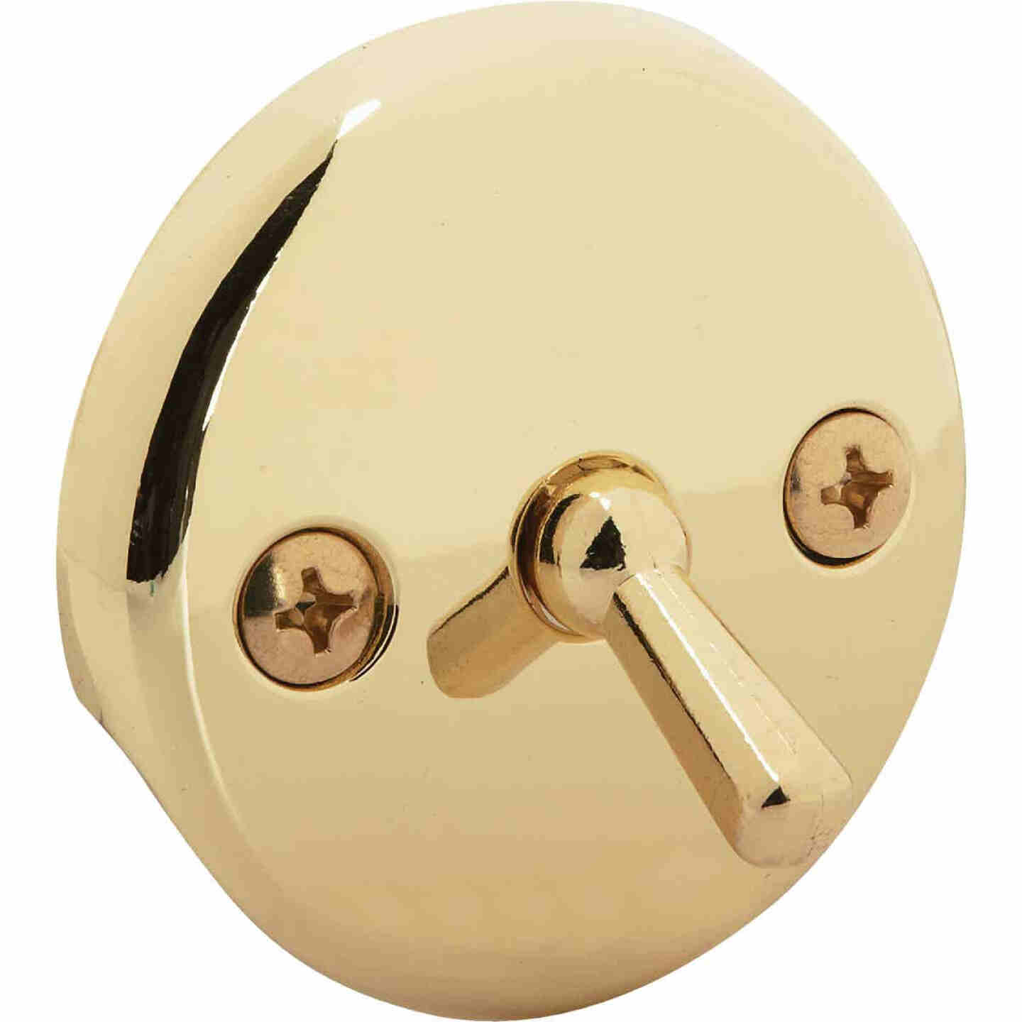 Do it Two-Hole Polished Brass Bath Drain Face Plate Image 1
