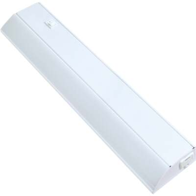 Good Earth Lighting 18 In. Direct Wire White LED Under Cabinet Light Bar