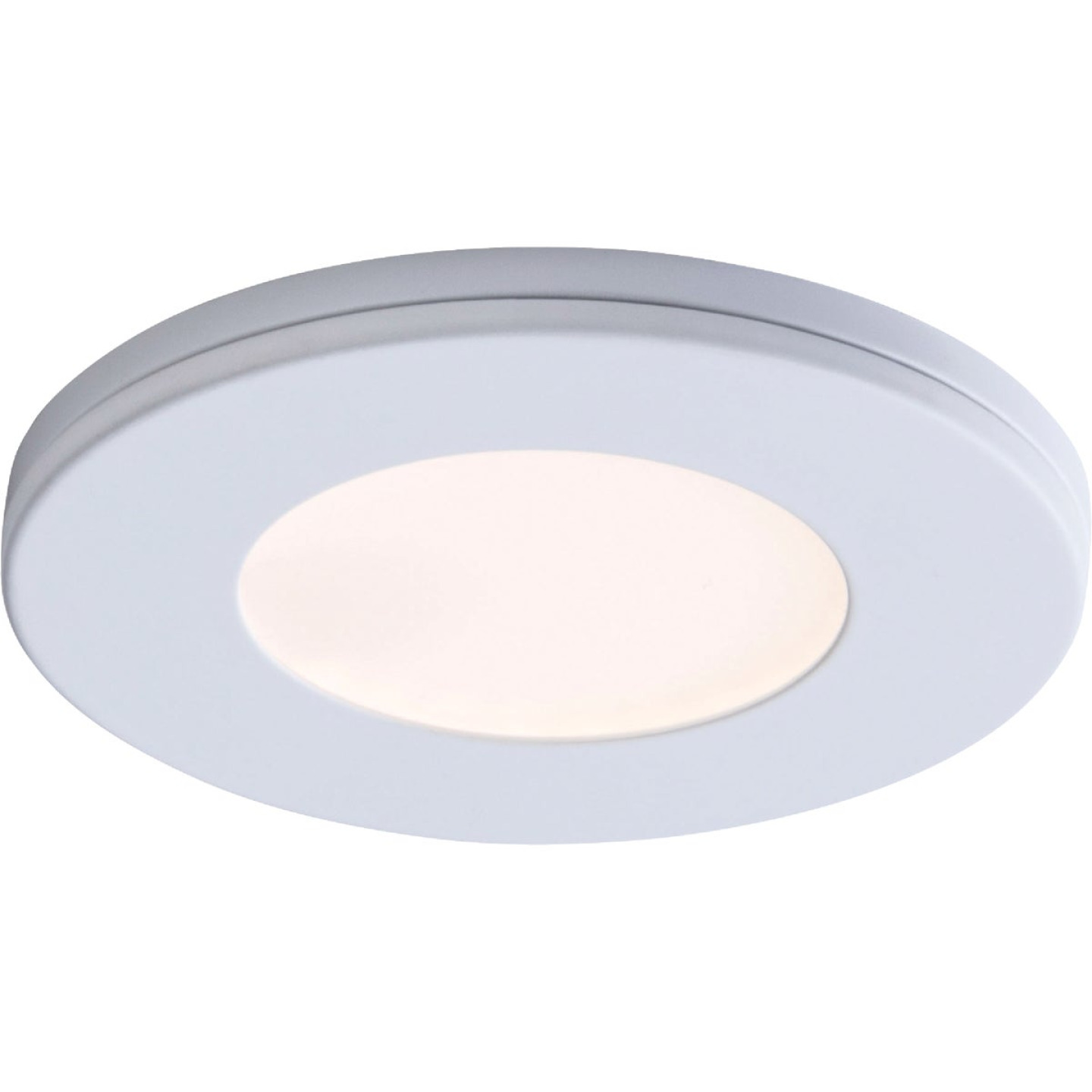 Liteline 3 In. Dia. X 1/4 In. Thick Plug-In White LED Under Cabinet Puck Light Image 1